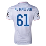 USA 14/15 American Outlaws AO MADISON Home Soccer Jersey