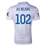 USA 14/15 American Outlaws AO MIAMI Home Soccer Jersey
