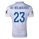 USA 14/15 American Outlaws AO MILWAUKEE Home Soccer Jersey