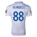 USA 14/15 American Outlaws AO MOBILE Home Soccer Jersey