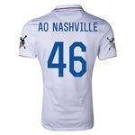 USA 14/15 American Outlaws AO NASHVILLE Home Soccer Jersey