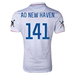 USA 14/15 American Outlaws AO NEW HAVEN Home Soccer Jersey
