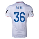 USA 14/15 American Outlaws AO NJ Home Soccer Jersey