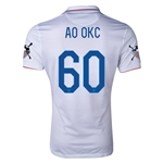 USA 14/15 American Outlaws AO OKC Home Soccer Jersey