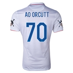 USA 14/15 American Outlaws AO ORCUTT Home Soccer Jersey
