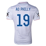 USA 14/15 American Outlaws AO PHILLY Home Soccer Jersey