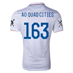 USA 14/15 American Outlaws AO QUAD CITIES Home Soccer Jersey