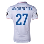 USA 14/15 American Outlaws AO QUEEN CITY Home Soccer Jersey