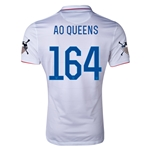 USA 14/15 American Outlaws AO QUEENS Home Soccer Jersey