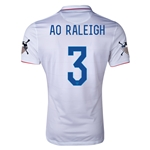 USA 14/15 American Outlaws AO RALEIGH Home Soccer Jersey
