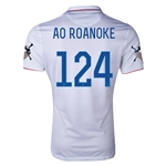 USA 14/15 American Outlaws AO ROANOKE Home Soccer Jersey