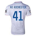 USA 14/15 American Outlaws AO ROCHESTER Home Soccer Jersey