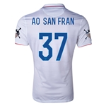 USA 14/15 American Outlaws AO SAN FRAN Home Soccer Jersey