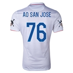 USA 14/15 American Outlaws AO SAN JOSE Home Soccer Jersey
