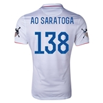 USA 14/15 American Outlaws AO SARATOGA Home Soccer Jersey