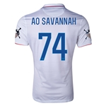 USA 14/15 American Outlaws AO SAVANNAH Home Soccer Jersey