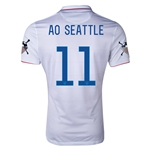 USA 14/15 American Outlaws AO SEATTLE Home Soccer Jersey