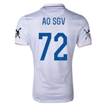 USA 14/15 American Outlaws AO SGV Home Soccer Jersey