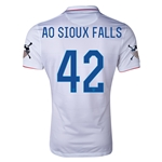 USA 14/15 American Outlaws AO SIOUX FALLS Home Soccer Jersey