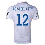 USA 14/15 American Outlaws AO STEEL CITY Home Soccer Jersey