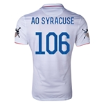 USA 14/15 American Outlaws AO SYRACUSE Home Soccer Jersey