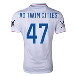 USA 14/15 American Outlaws AO TWIN CITIES Home Soccer Jersey