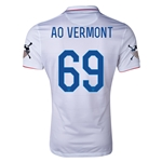 USA 14/15 American Outlaws AO VERMONT Home Soccer Jersey