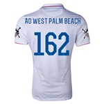 USA 14/15 American Outlaws AO WEST PALM BEACH Home Soccer Jersey
