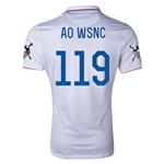 USA 14/15 American Outlaws AO WSNC Home Soccer Jersey