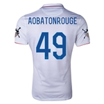 USA 14/15 American Outlaws AOBATONROUGE Home Soccer Jersey