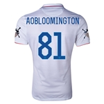 USA 14/15 American Outlaws AOBLOOMINGTON Home Soccer Jersey
