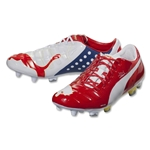 PUMA evoPower 1 FG (White/High Risk Red/Empire Yellow)