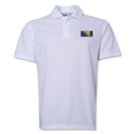Bosnia-Herzegovina Flag Soccer Polo (White)