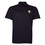 Italy Flag Soccer Polo (Black)