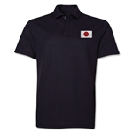 Japan Flag Soccer Polo (Black)