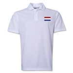 Netherlands Flag Soccer Polo (White)