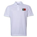 Portugal Flag Soccer Polo (White)