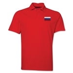 Russia Flag Soccer Polo (Red)