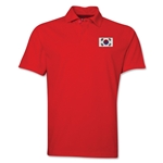 South Korea Flag Soccer Polo (Red)
