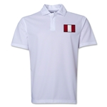 Peru Flag Soccer Polo (White)