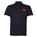 Tunisia Flag Soccer Polo (Black)