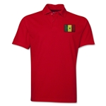Senegal Flag Soccer Polo (Red)