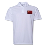 China Flag Soccer Polo (White)