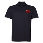 China Flag Soccer Polo (Black)