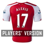 Arsenal 14/15 ALEXIS Authentic Home Soccer Jersey
