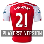 Arsenal 14/15 CHAMBERS Authentic Home Soccer Jersey