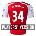 Arsenal 14/15 COQUELIN Authentic Home Soccer Jersey