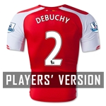 Arsenal 14/15 DEBUCHY Authentic Home Soccer Jersey