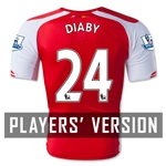 Arsenal 14/15 DIABY Authentic Home Soccer Jersey