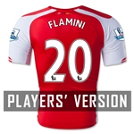 Arsenal 14/15 FLAMINI Authentic Home Soccer Jersey